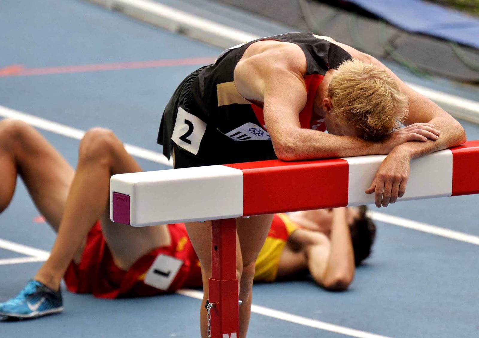 Kimerült futóverseny után